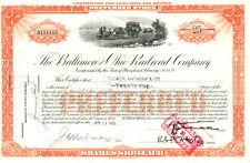 Baltimore /& Ohio B/&O Railroad Company Stock Certificate CSX Blue