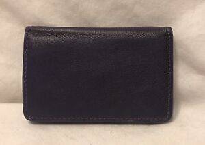 New Leather Credit Card Case Holder SRP $11.50 Purple