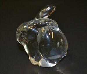 VINTAGE-CLEAR-GLASS-RABBIT-FIGURINE-3