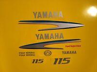 Yamaha Outboard Motor Decal Kit 115 Hp 4 Stroke Kit - Marine Vinyl Not Ink-jet