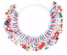 Hello Kitty Con 40th Anniversary 40 Favorite Vintage Things Charms necklace NEW