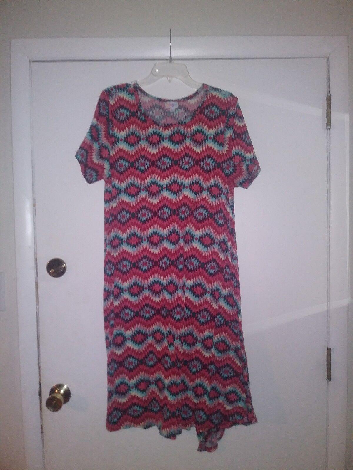 LOT  4 Soft Flattering Plus-Größe Dresses - Lularoe - Carly - Amelia - XL 2XL EUC