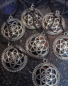 Details about Shungite Inlay Sacred Geometry Seed of Life Pendant 37mm By  Oraphim: EMF Shield