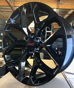 20 Gmc Sierra Gloss Black Snowflake Rims Denali Chevy Silverado