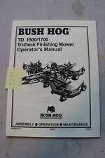 Bush Hog Td1500 Td1700 Tri Deck Finishing Mower Operators Manual