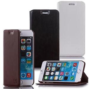 Echt-Leder-Handy-Tasche-Flip-Cover-Schutz-Huelle-Klapp-Etui-Hard-Case-Schale-Bag