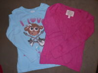 JUSTICE SHIRT/ LIMITED TOO SWEATER/ KIDS 8 REG./ LOT OF 2