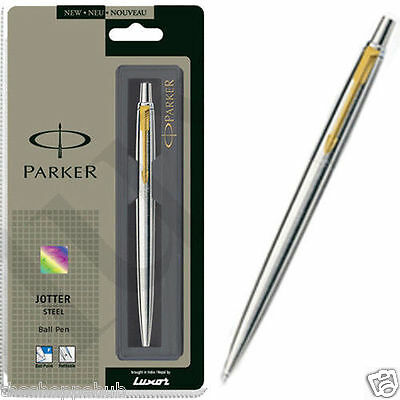 Gold Trim-Free Shipping Personalised Engraved Parker Jotter Stainless Steel GT