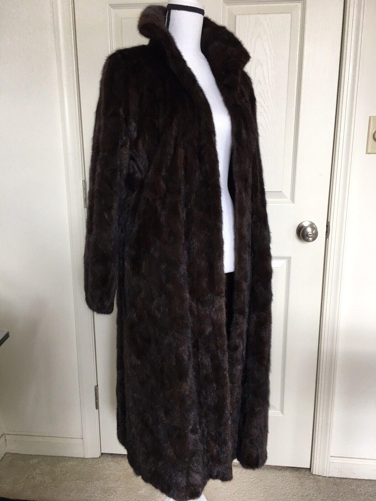 """Dark Brown Mink Fur Coat Full Lenght  """"Diane Furs… - image 2"""