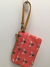 Fossil Wristlet Wallet *Keyper* Pink Multicolor Cell Phone Holder Mini Purse