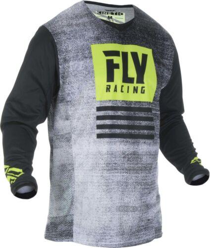 Fly Racing Kinetic Noiz Jersey Black//Hi-Vis