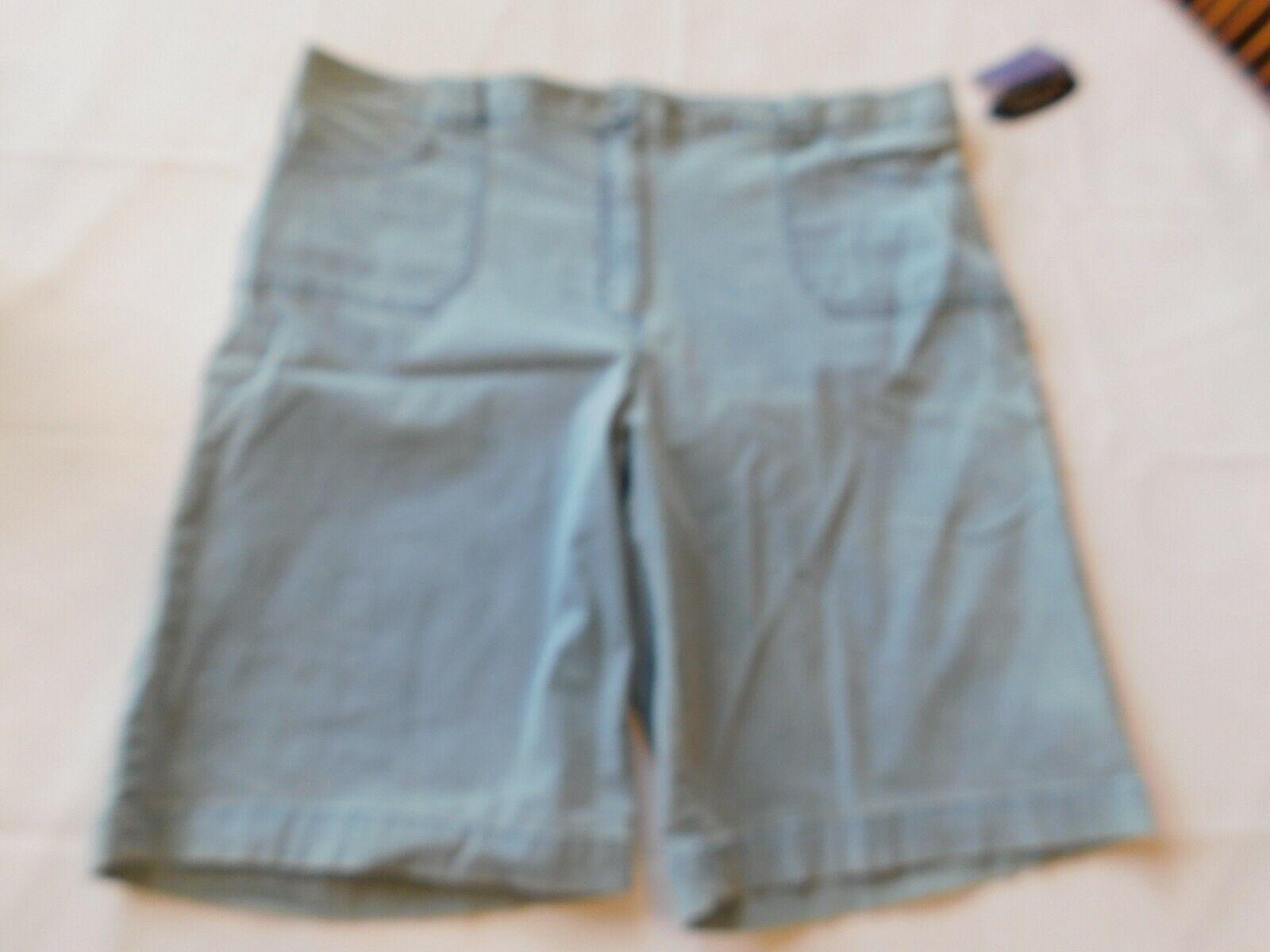 Laura Scott Missy Damen Shorts Kurze Größe 18 Flach Vorne Chambray Blau Nwt X