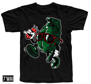 "/""SHADE/"" SHIRT IN GREEN FOAMPOSITE GORGE GREEN GYM RED COLORWAY RETRO"