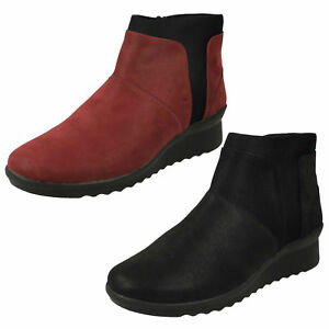 7f19e1e56287 Image is loading Clarks-Ladies-Cloudsteppers-Ankle-Boots-039-Caddell-Sloane-