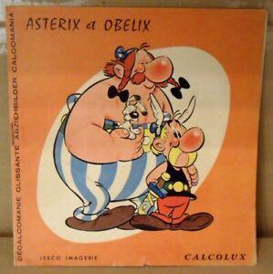 Rarissime-1er-decalcomanie-Asterix-et-Obelix-Dargaud-annee-1966-TB