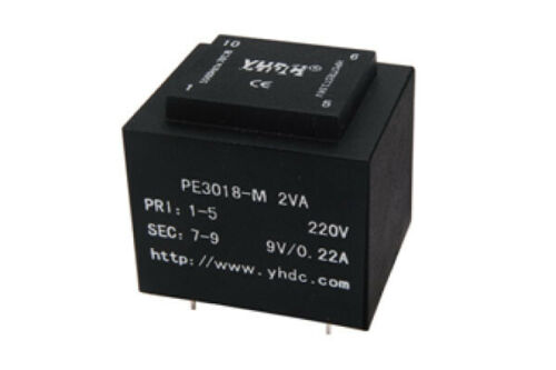 YHDC PCB welding isolation transformer PE3018-M 2VA variations 110V//6-24V