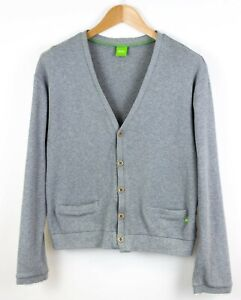 Hugo-Boss-Hombre-Toaby-Front-Boton-Rebeca-Jersey-Talla-L-NZ673