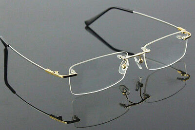 Flexibled Rimless Memory Titanium Eyeglass Frames Hinged Glasses Spectacles Rx