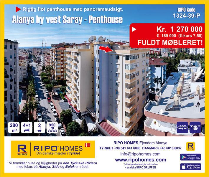 En flot penthouselejlighed i Alanya med panoram...