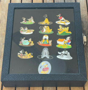 COMPLETE-Disney-Pin-Pluto-90th-Anniversary-Mystery-LE-1000-with-display-frame