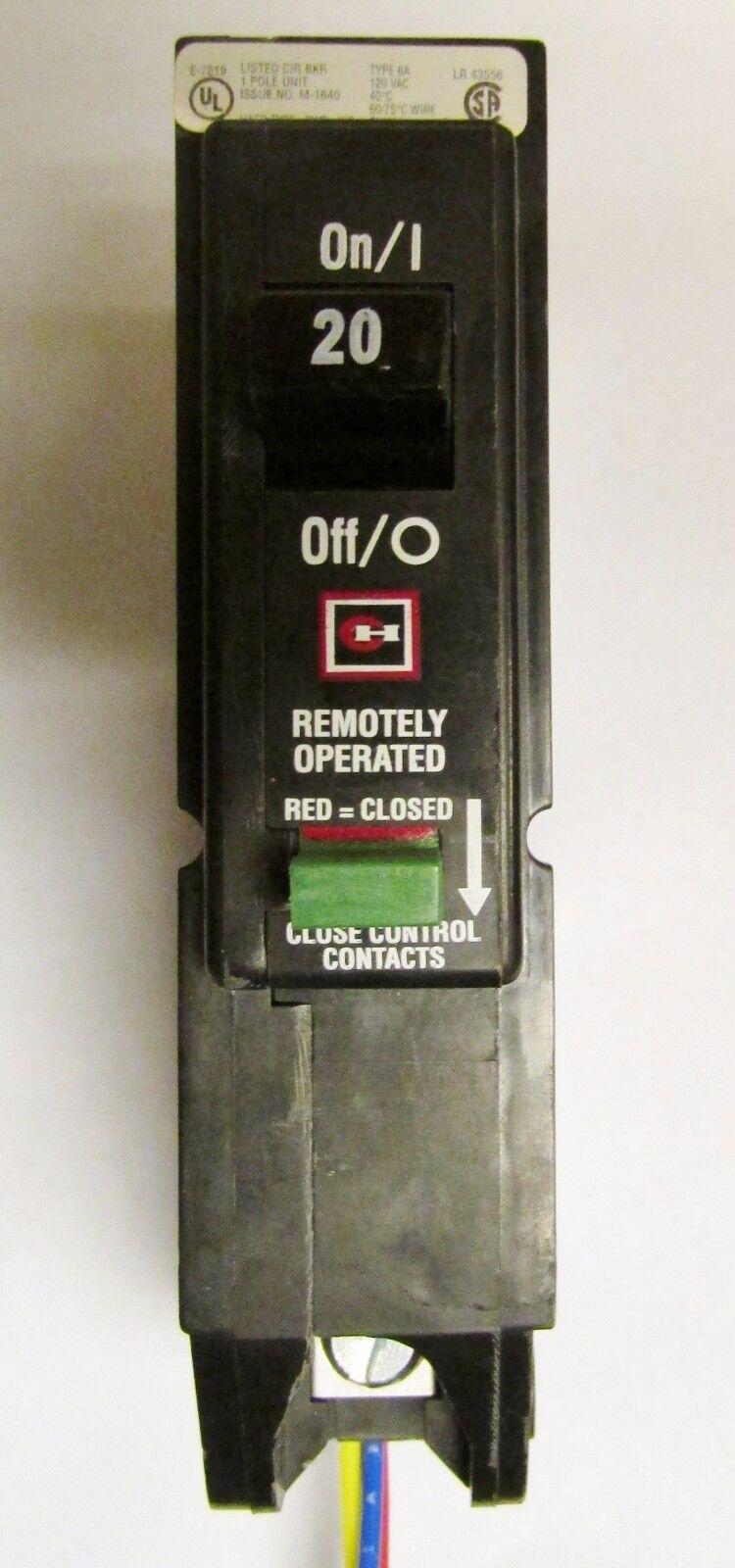 EATON CUTLER HAMMER Type BA BABR Remotely Operated Circuit Breaker BABR1020
