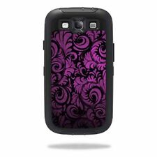 Skin Decal Wrap for OtterBox Defender Samsung Galaxy S III S3 Case Purple Stl