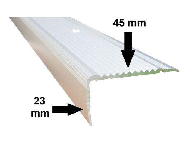14,57/€//m , silber ungebohrt Treppenwinkel 53 x 53 x 1180 mm 1180 mm - innenma/ß 50 x 50 mm Treppen-Kantenprofil Stufen-Profil Alu-Winkel-Profil