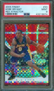 2005-06-Topps-Finest-KOBE-BRYANT-RED-XFractor-99-139-SSP-Lakers-33-PSA-9-Pop-1