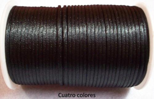 FORNITURA//ABALORIOS,15 m COLA DE RATON SEDA SATEN DE 2,5 mm COLOR NEGRO