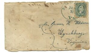 UNUSUAL CONFEDERATE COVER WITH A FAKE AND REAL SIDE AUTHENTICATED
