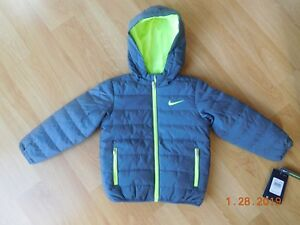 8528d8cab Nike Toddler Boy Breathable Puffer Hooded Jacket Coat Gray 3T NWT ...