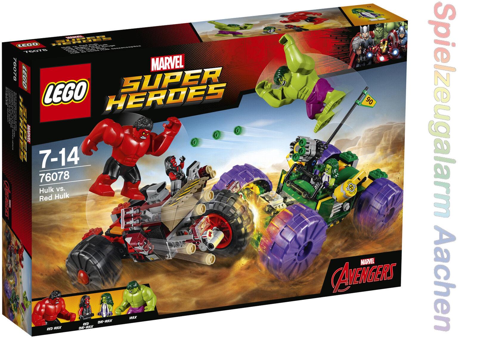 LEGO 76078 MARVEL Super Heroes Hulk gegen Red Hulk She-Hulk Red She-Hulk N3 17