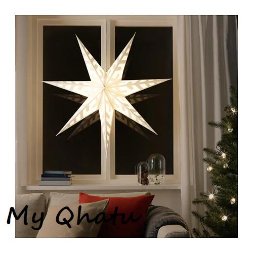 Ikea Strala Pendant Lamp Shade Snowflake Gold Holiday Decoration 804 054 69