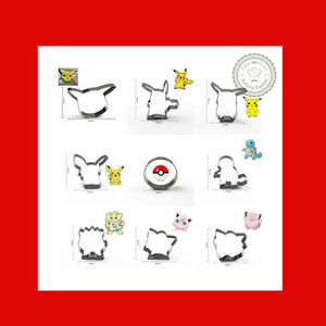 Pokemon Cookie Cutter Pikachu Pokeball Fondant Cake Mold