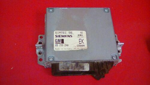 VAUXHALL VECTRA B 2.0 16V X20XEV MANUAL ENGINE ECU 09153240 EK 1995-2002