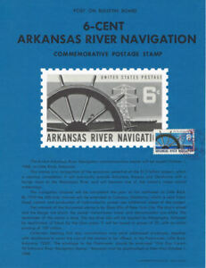 #1358 6c Arkansas River Stamp Poster- Unofficial Souv Pg Flat w/Yonkers FD-Rare