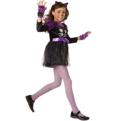 Costume Bambina Micina Gatta Cat Kitty Animale Tutu Ragazze Carnevale Halloween