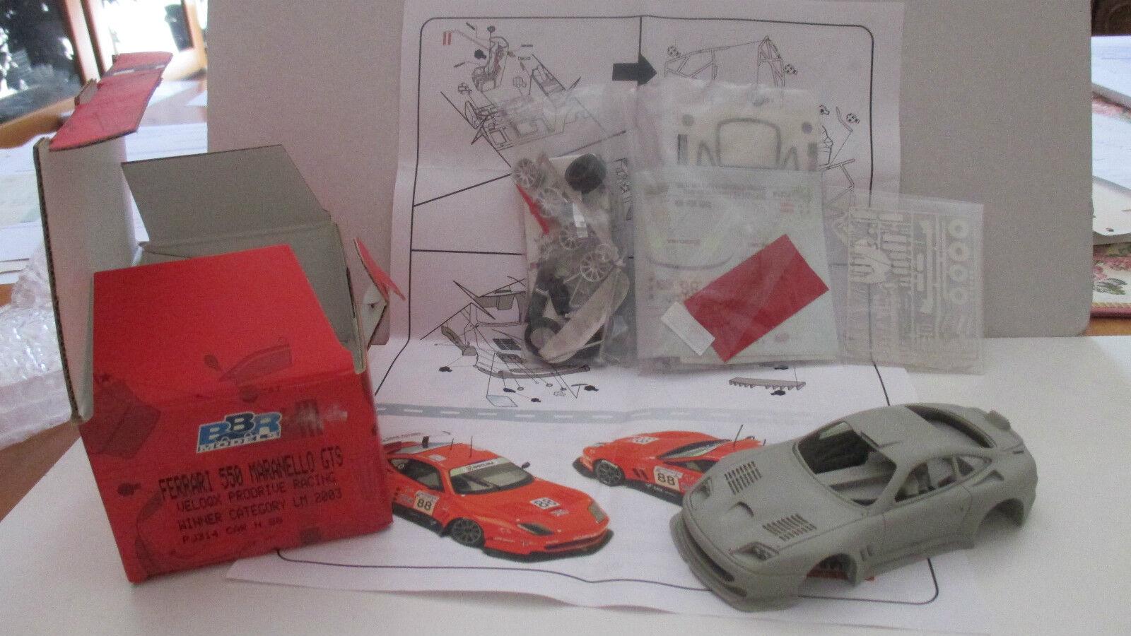 FERRARI 550 MARANELLO GTS VELOQX PRODRIVE RACING 2003 BY BY BY BBR 1 43 PJ314 74b9ae