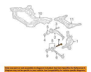For Mercedes Genuine Suspension Control Arm Bolt Left 0039902605