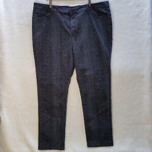 de jeans Nydj nouveau gris serpent pas vos python peau maigre 22w filles xf67Yq6w