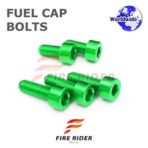 FRW-Green-Fuel-Cap-Bolts-Set-For-Kawasaki-ZX-14R-Ninja-06-16-07-08-09-10-11-12