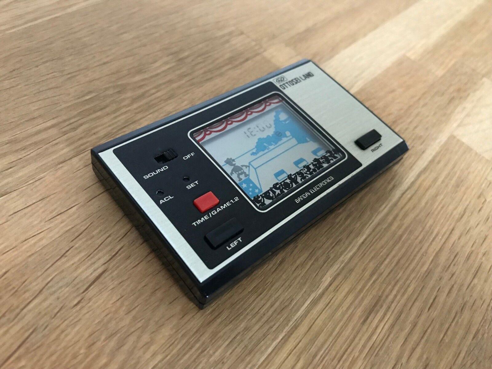 Rare Bandai Ottosei Land 1981 Vintage LCD Handheld Electronic Game - Req Repairs
