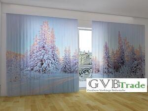 "Fotogardine ""winter Im Wald"" Fotovorhang Panorama Vorhang Gardinen Curtains, Drapes & Valances Auf Maß Reasonable Price Window Treatments & Hardware"