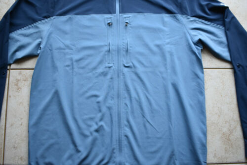 NEW Under Armour Men/'s Remous Hybride Zip Complet Pêche Veste Chemise 2XL