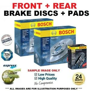 BOSCH FRONT + REAR DISCS + PADS for OPEL ASTRA G Coupe 2.0 16V Turbo 2000-2001