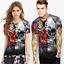 Space-Galaxy-Crane-d-039-impression-3D-Femme-Homme-Casual-T-shirt-a-manches-courtes-Graphic-Tee miniature 14
