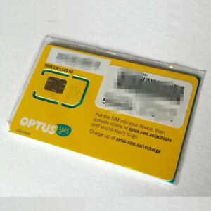 AUSTRALIAN DATA 4GB SIM CARD OPTUS STANDARD MICRO CELL PHONE 3G 4G LTE PREPAID