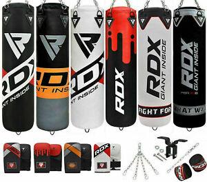 RDX Schwer Box-Set Handschuhe Schlagen Gefüllt Boxsack MMA Deckenhaken Ketten AT