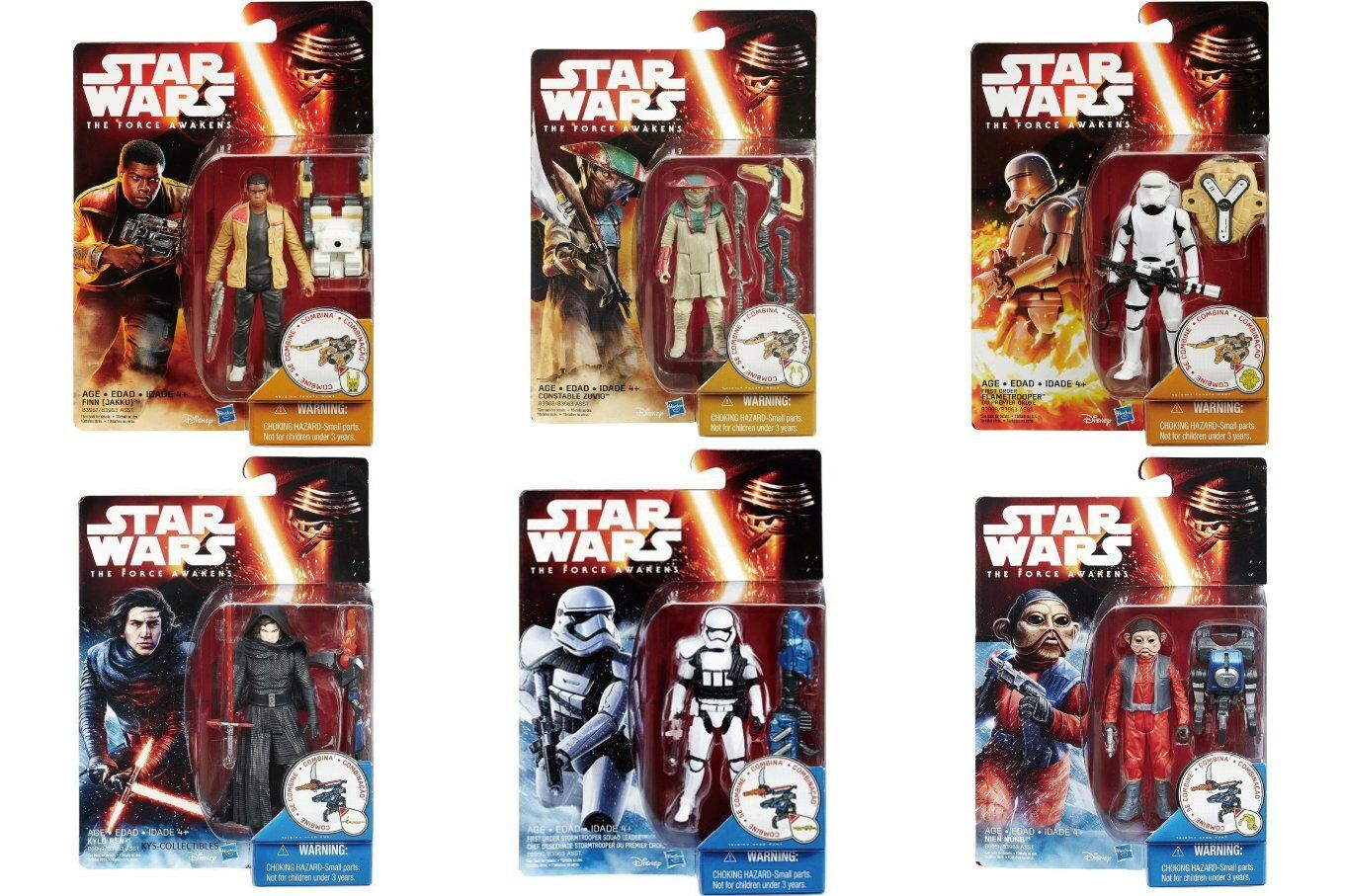 Hasbro star wars force weckt 3,75  wave 2; set action - figur