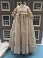 Antique Doll Clothes  Lace Gown Petticoat